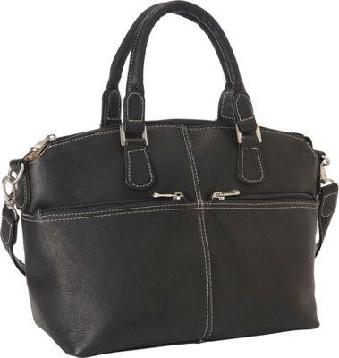 Le Donne Leather Classic Satchel Black - Le Donne Leather Leather Handbags