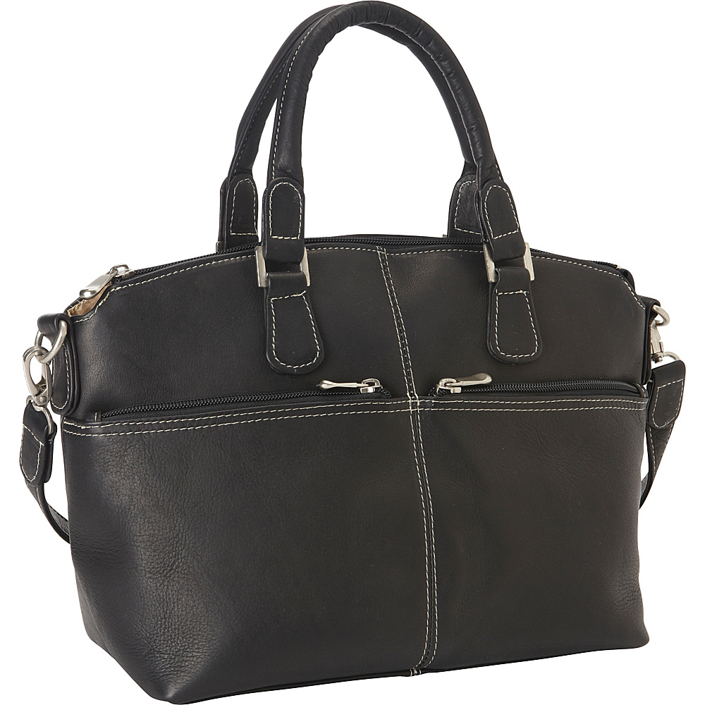 Le Donne Leather Classic Satchel Black - Le Donne Leather Leather Handbags - Handbags, Leather Handbags