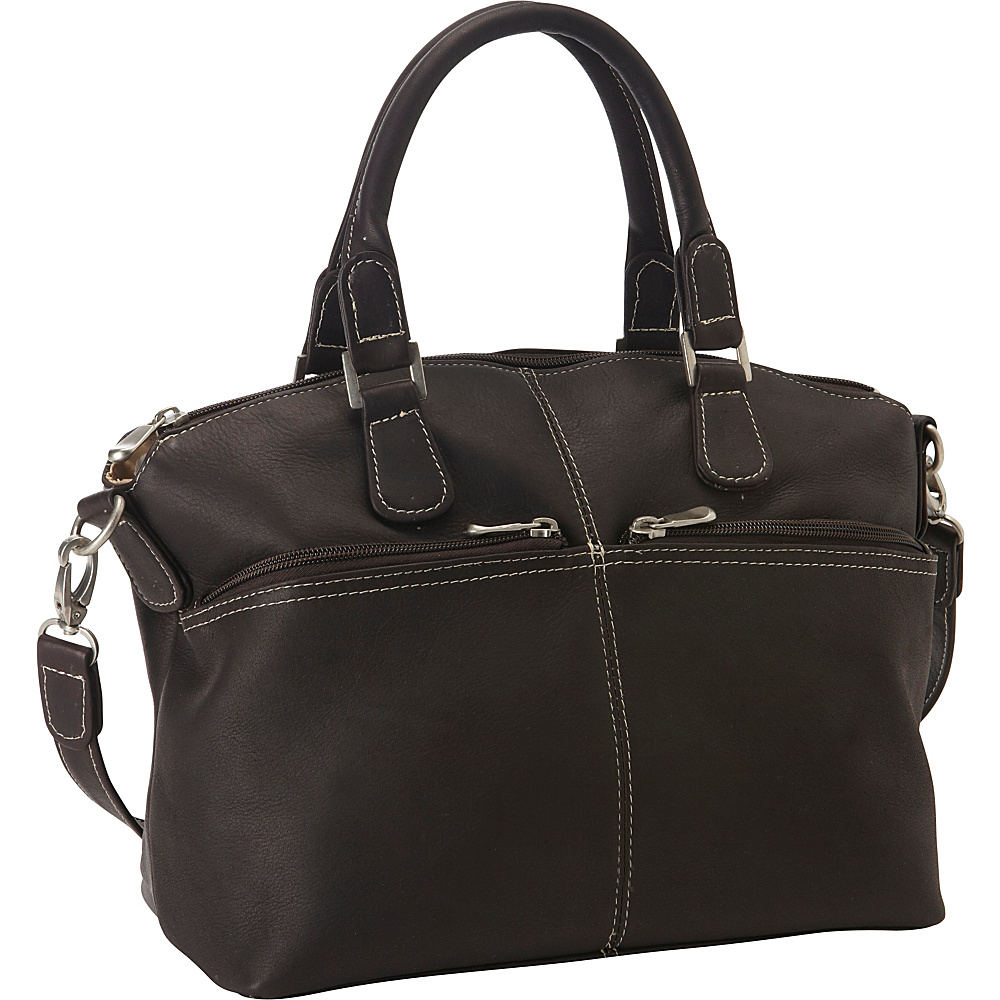 Le Donne Leather Classic Satchel Cafe - Le Donne Leather Leather Handbags - Handbags, Leather Handbags