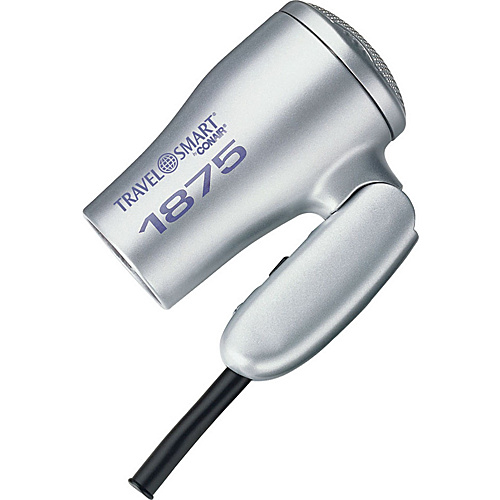 Travel Smart by Conair 1875-Watt Folding Travel Mini Hair Dryer Silver - Travel Smart by Conair Travel Comfort and Health