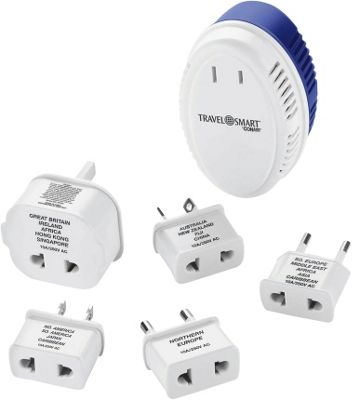 Travel Smart by Conair 1875-Watt Converter with International Adapter Plugs White/Blue - Travel Smart by Conair Electronic Accessories