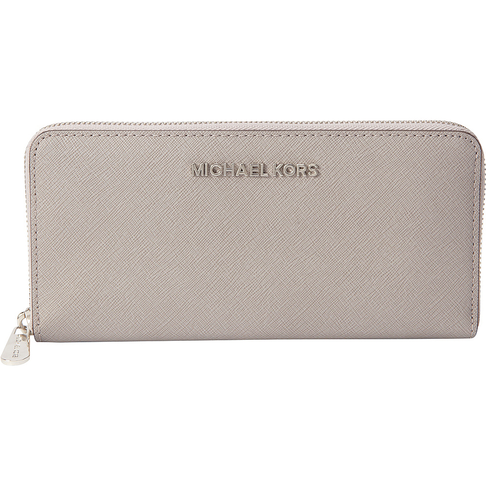 e63767e148c0c3 ... Wallet | upcitemdb UPC 887042732393 product image for MICHAEL Michael  Kors Jet Set Travel Zip Around Continental Pearl Grey ...