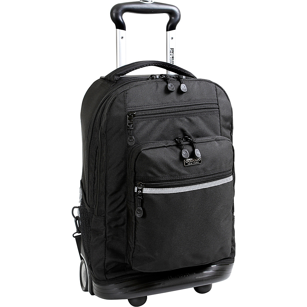j world new york sundance ii rolling backpack 3 colors ebay. Black Bedroom Furniture Sets. Home Design Ideas