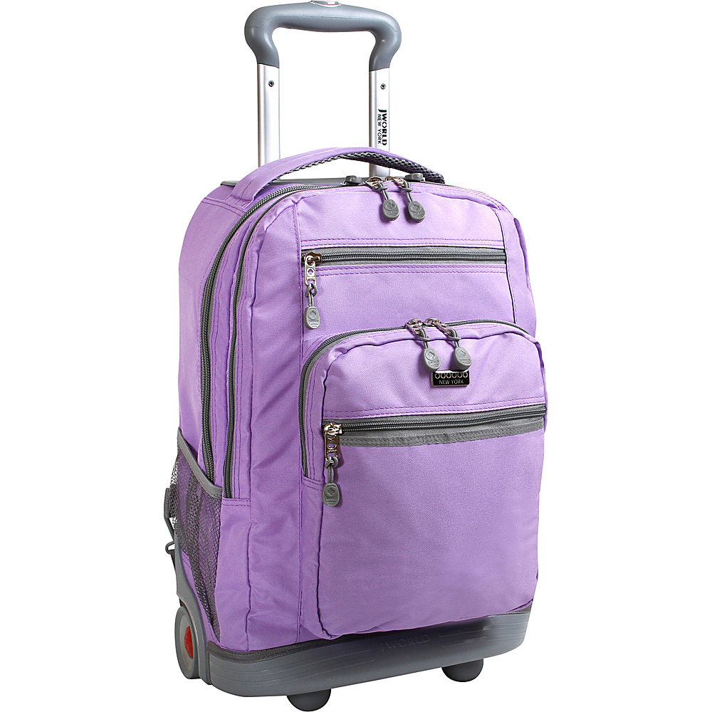 J World New York Sundance II Rolling Backpack Orchid - J Wor