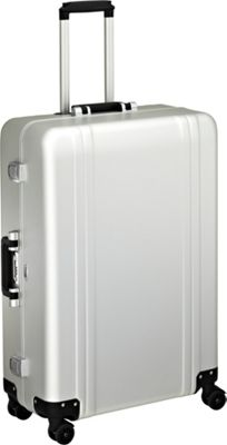Zero Halliburton Classic Aluminum 28 inch 4 Wheel Spinner Travel Case Silver - Zero Halliburton Hardside Checked