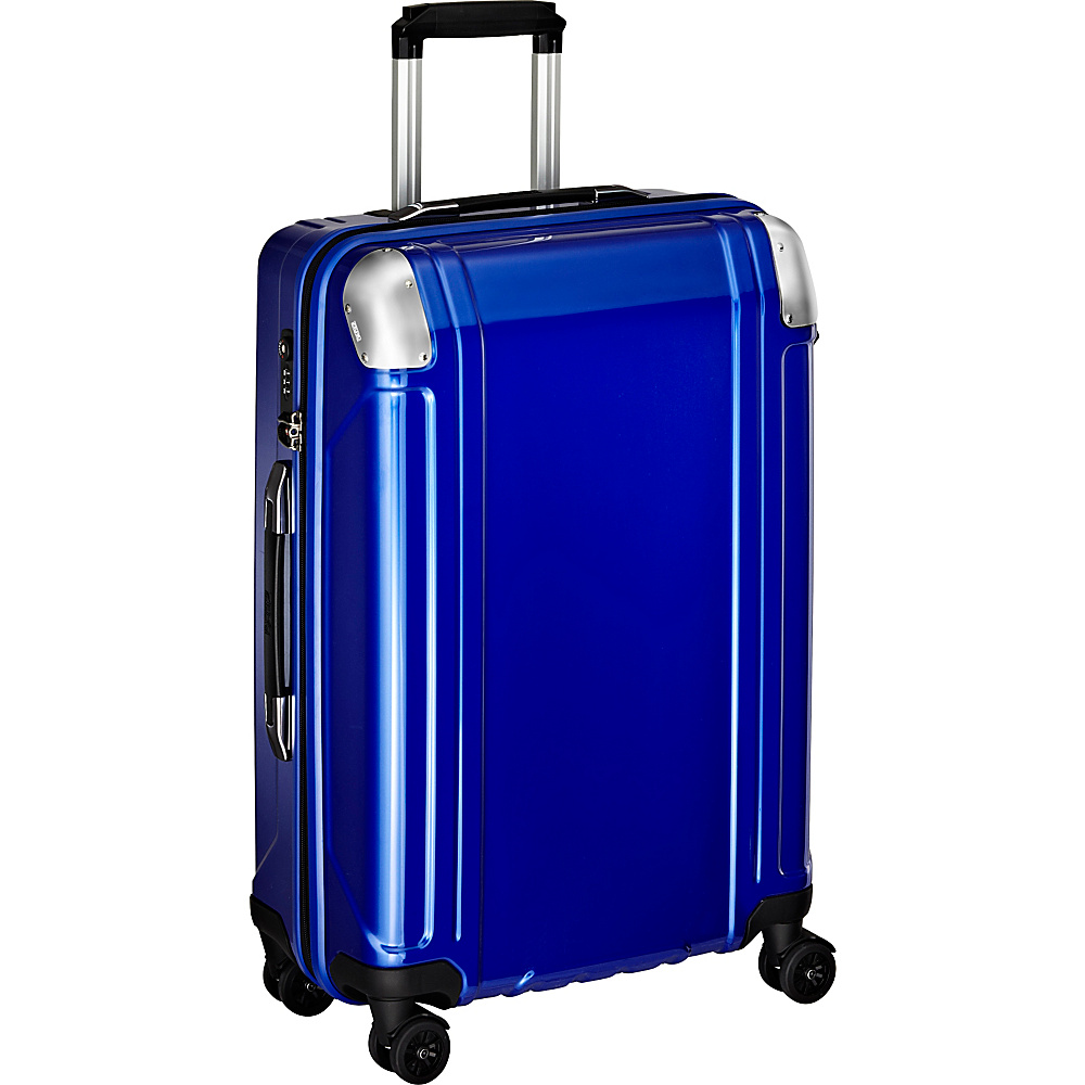 Zero Halliburton Geo Polycarbonate 24 4 Wheel Spinner Travel Case Blue Zero Halliburton Hardside Checked