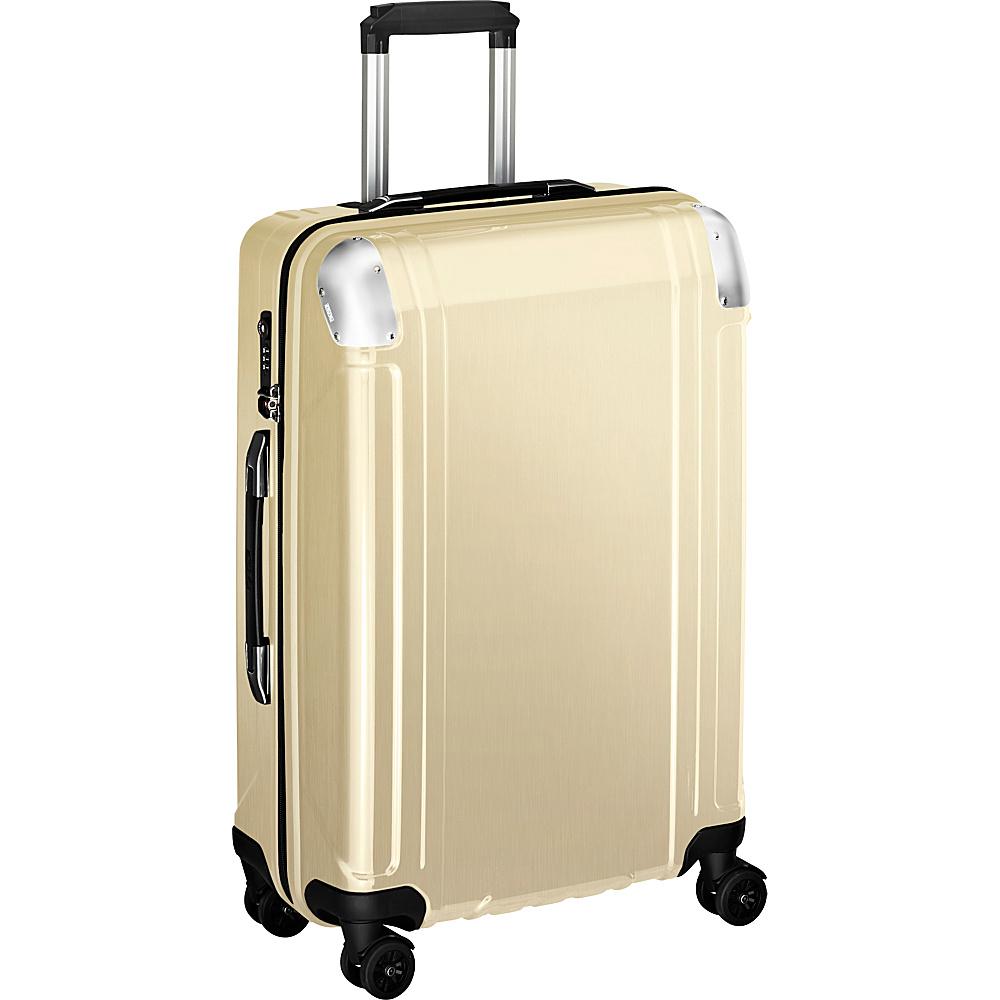 Zero Halliburton Geo Polycarbonate 24 4 Wheel Spinner Travel Case Polished Gold PG Zero Halliburton Hardside Checked