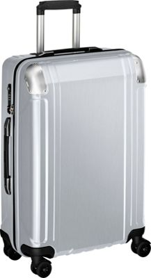 Zero Halliburton Geo Polycarbonate 24 inch 4 Wheel Spinner Travel Case Silver - Zero Halliburton Hardside Checked