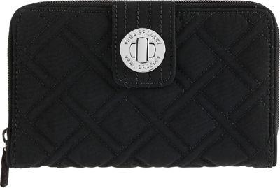 Vera Bradley Turn Lock Wallet - Solids Black - Vera Bradley Ladies Small Wallets