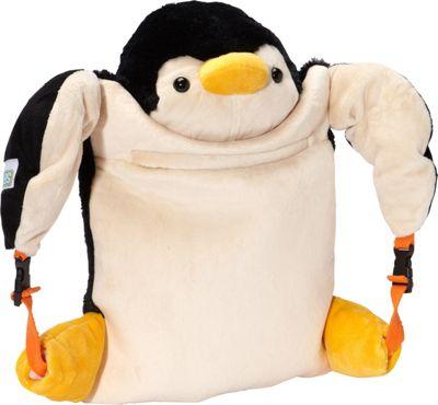 Wildkin Penguin Luggable Children's Backpack Black - Wildkin Everyday Backpacks