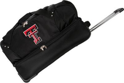 Denco Sports Luggage NCAA Texas Tech University Red Raiders 27 inch Drop Bottom Wheeled Duffel Bag Black - Denco Sports Luggage Travel Duffels