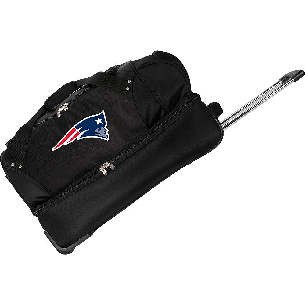 Denco Sports Luggage NFL 27 Drop Bottom Wheeled Duffel Bag New England Patriots - Denco Sports Luggage Rolling Duffels - Luggage, Rolling Duffels
