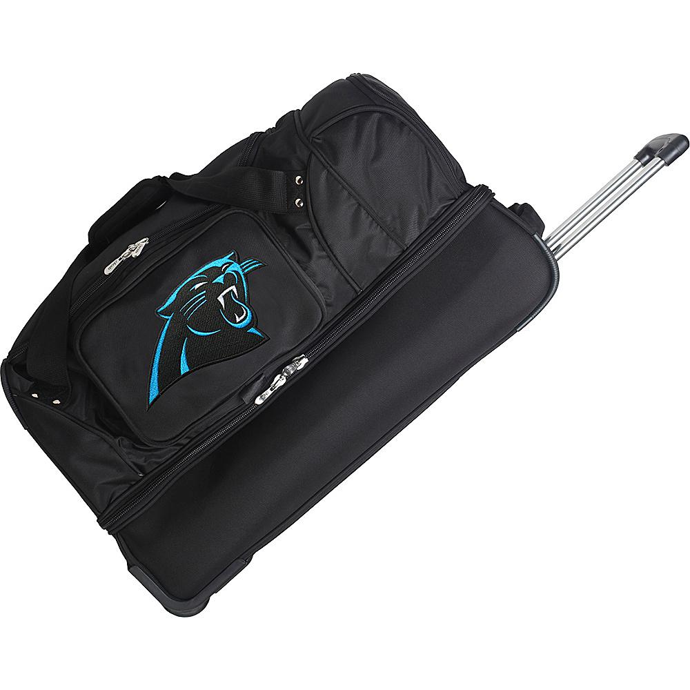 Denco Sports Luggage NFL 27 Drop Bottom Wheeled Duffel Bag Carolina Panthers - Denco Sports Luggage Rolling Duffels - Luggage, Rolling Duffels