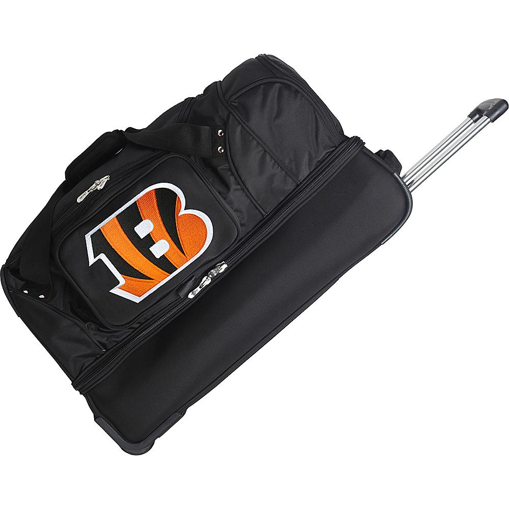 Denco Sports Luggage NFL 27 Drop Bottom Wheeled Duffel Bag Cincinnati Bengals - Denco Sports Luggage Rolling Duffels - Luggage, Rolling Duffels
