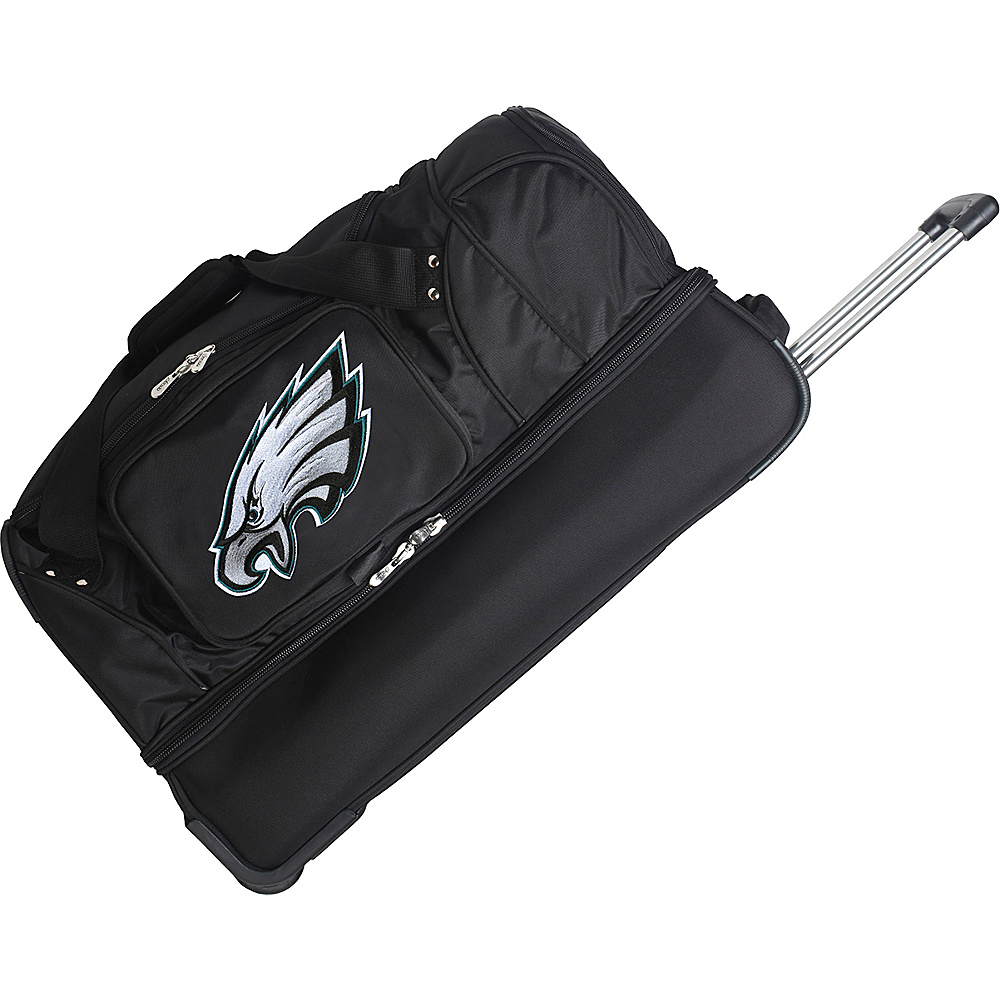 "Denco Sports Luggage NFL 27"" Drop Bottom Wheeled Duffel Bag Philadelphia Eagles - Denco Sports Luggage Rolling Duffels"