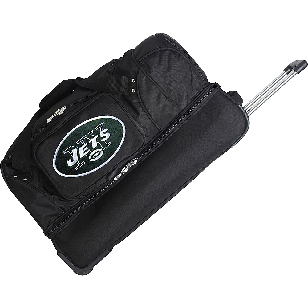 Denco Sports Luggage NFL 27 Drop Bottom Wheeled Duffel Bag New York Jets - Denco Sports Luggage Rolling Duffels - Luggage, Rolling Duffels
