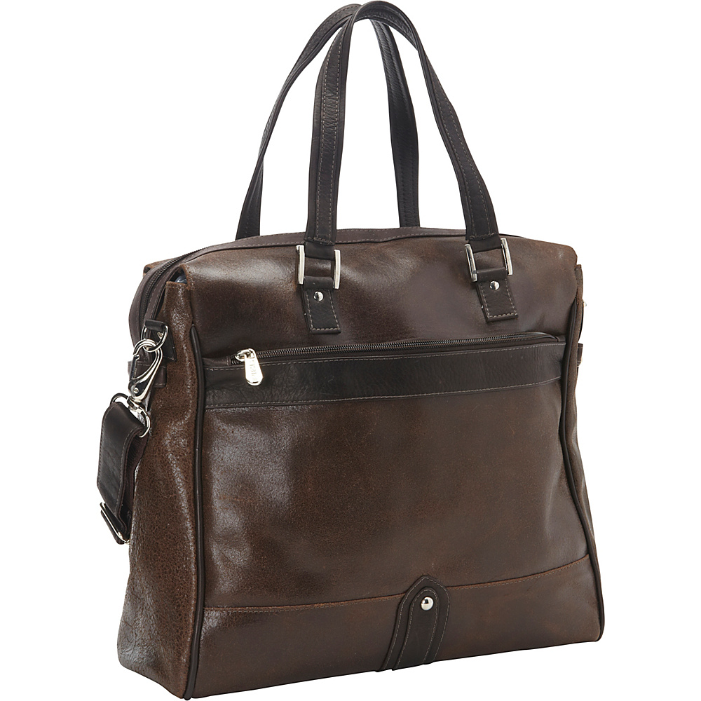 Piel Vintage Leather Travel Tote Vintage Brown - Piel Luggage Totes and Satchels - Luggage, Luggage Totes and Satchels