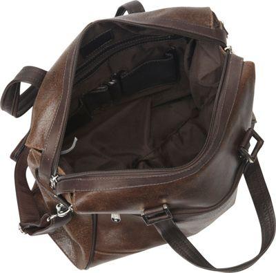 Piel Vintage Leather Travel Tote Vintage Brown - Piel Luggage Totes and Satchels