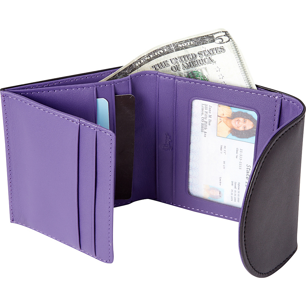 Royce Leather RFID Blocking Ladies Wallet Purple - Royce Leather Women's Wallets