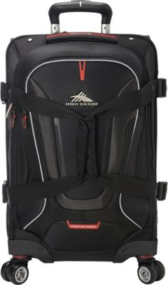 High Sierra AT7 Carry-on Spinner duffel with backpack straps Black - High Sierra Rolling Duffels
