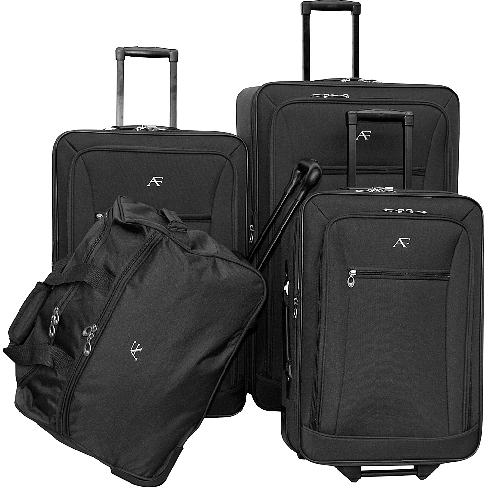 American Flyer Brooklyn Collection 4-Pcs Set Black - American Flyer Luggage Sets