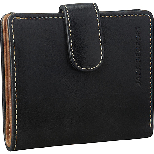Jack Georges Montana Collection Mini Wallet w/Snap Closure Black - Jack Georges Ladies Small Wallets