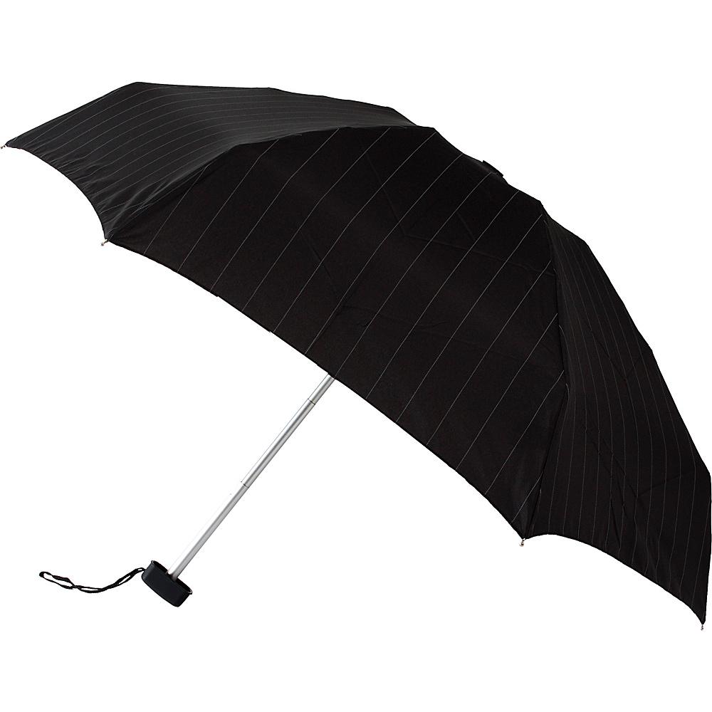 Leighton Umbrellas Genie pinstripes black white Leighton Umbrellas Umbrellas and Rain Gear