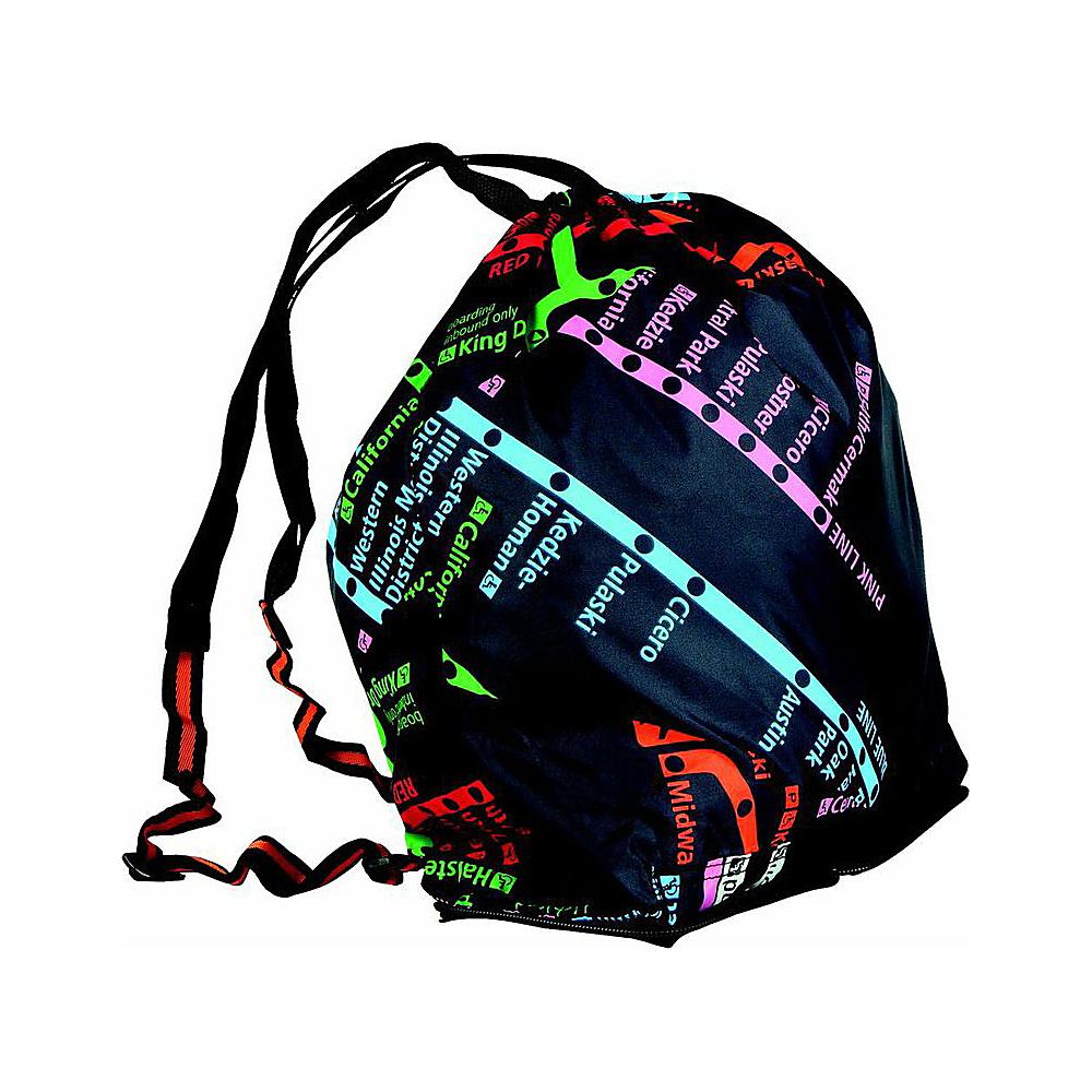 Leighton Umbrellas CTA Folding Backpack navy multi Leighton Umbrellas Packable Bags