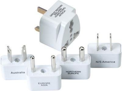 Go Travel Worldwide Adaptor Kit White - Go Travel Electronic Accessories