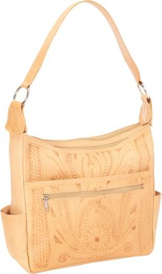 Ropin West Concealed Weapon Handbag Natural - Ropin West Leather Handbags