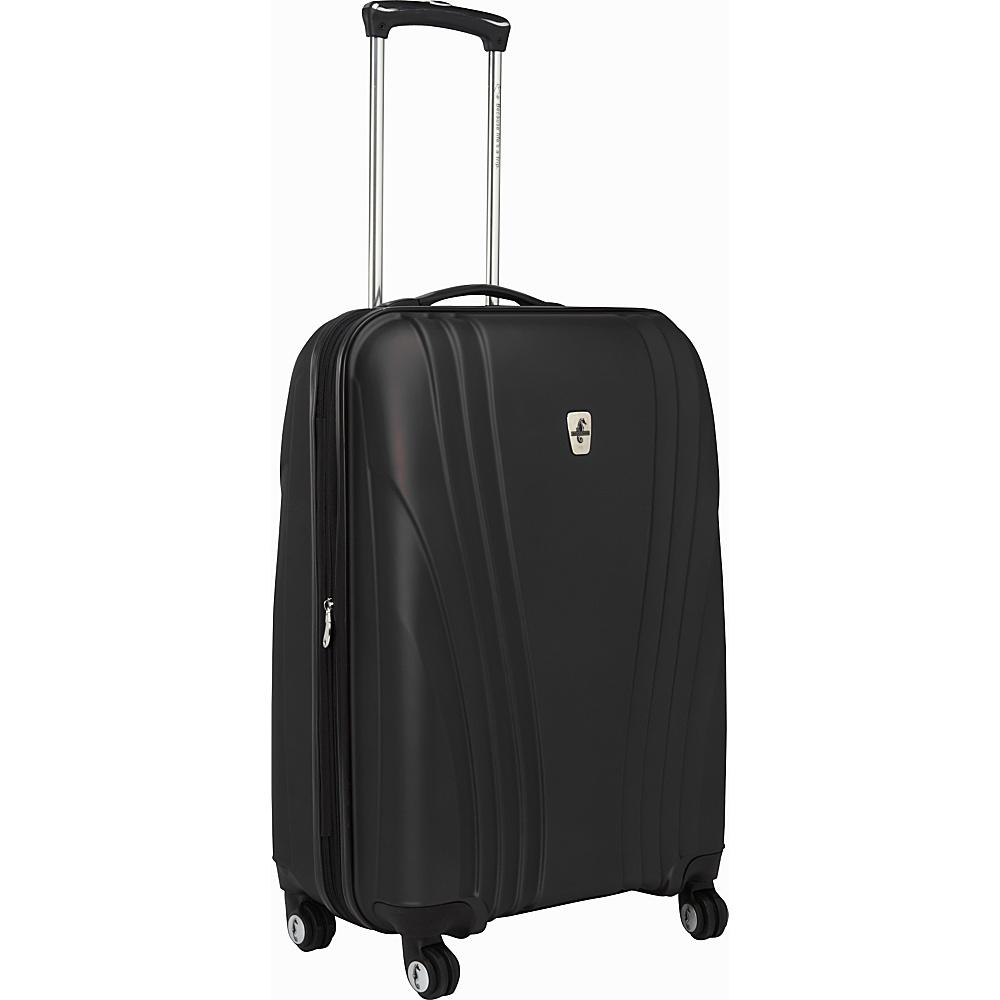 """Atlantic Lumina 24"""" Exp. Hardside Spinner Luggage Black - Atlantic Hardside Checked"""