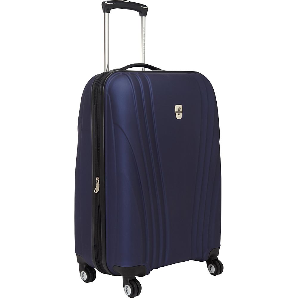 """Atlantic Lumina 24"""" Exp. Hardside Spinner Luggage Blue - Atlantic Hardside Checked"""