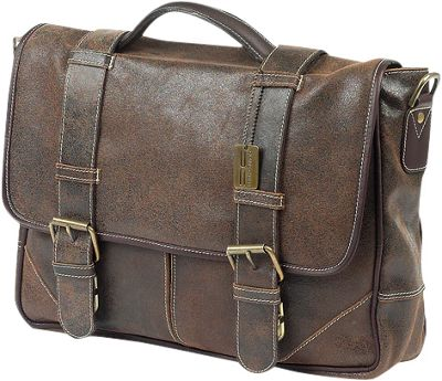 ClaireChase Laredo Messenger Distressed Brown - ClaireChase Messenger Bags