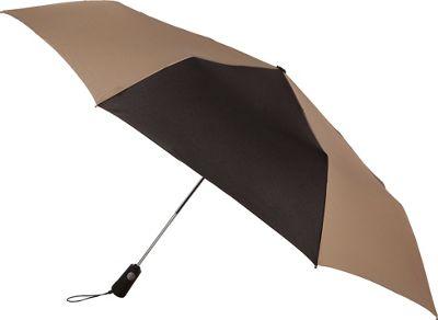 Totes totes Duet Black/British Tan - Totes Umbrellas and Rain Gear