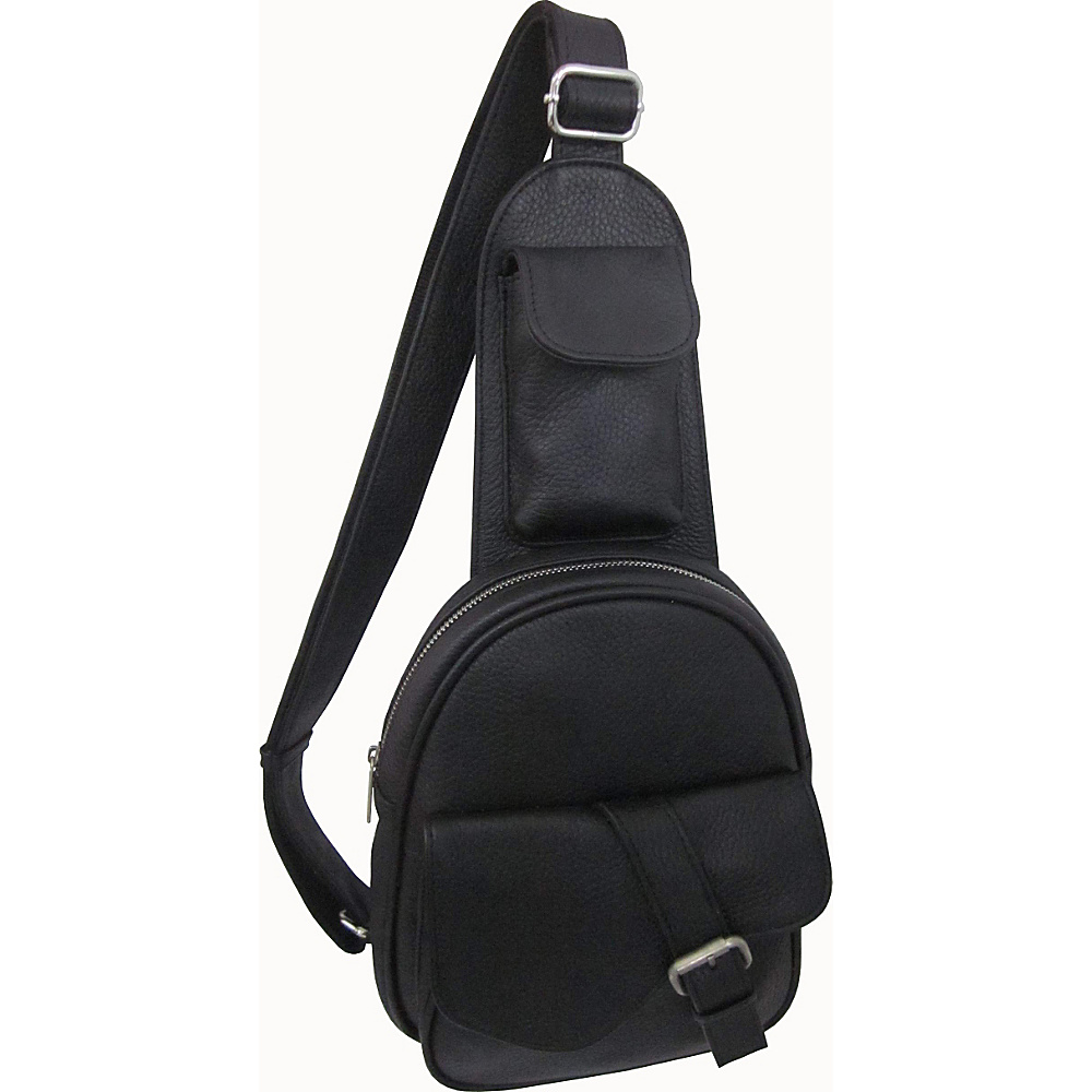 AmeriLeather Edwin Messenger Black - AmeriLeather Messenger Bags - Work Bags & Briefcases, Messenger Bags