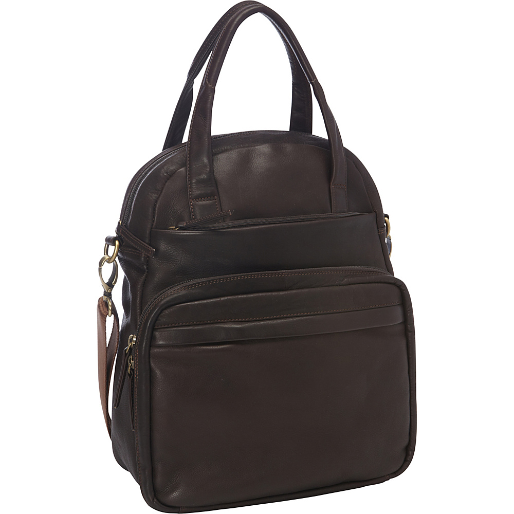Derek Alexander NS Top Zip Multi-Comp Brown - Derek Alexander Leather Handbags - Handbags, Leather Handbags