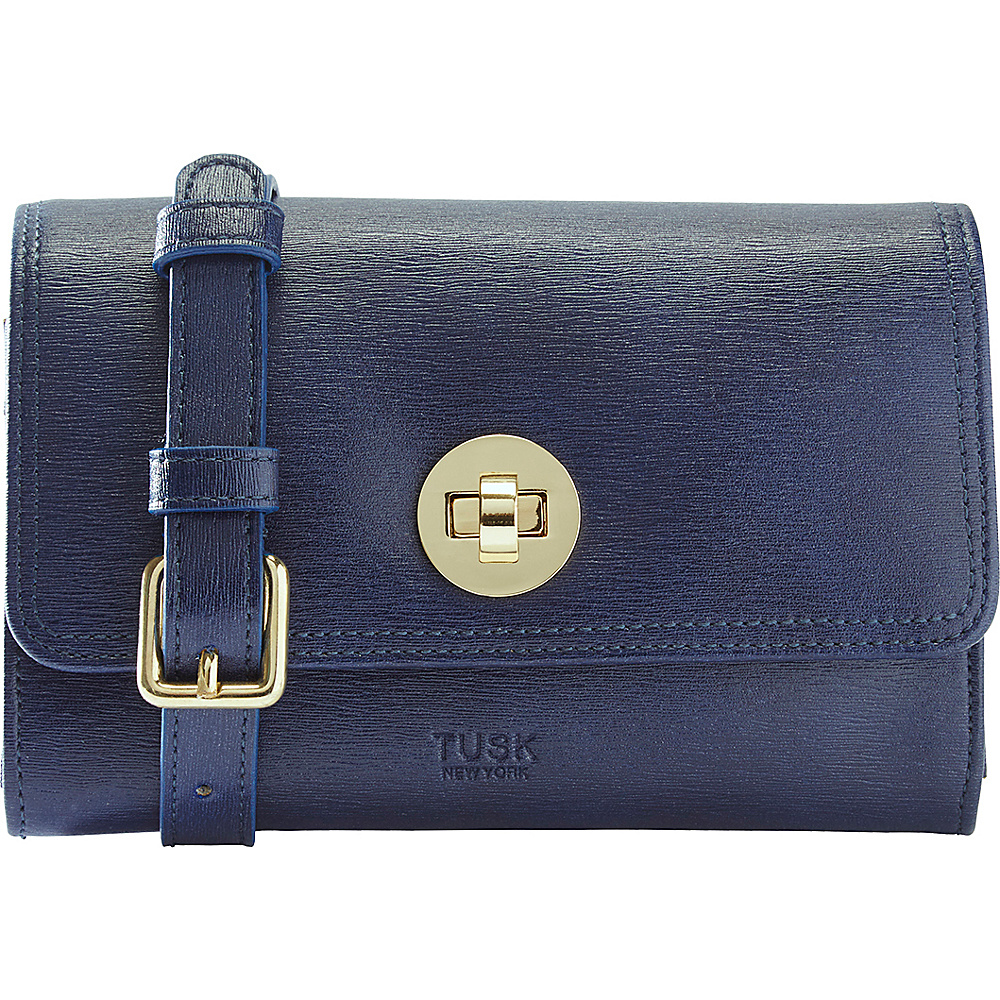 TUSK LTD Madison Mini Cross Body Bag Navy TUSK LTD Leather Handbags