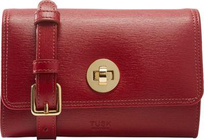 TUSK LTD Madison Mini Cross Body Bag Red - TUSK LTD Leather Handbags
