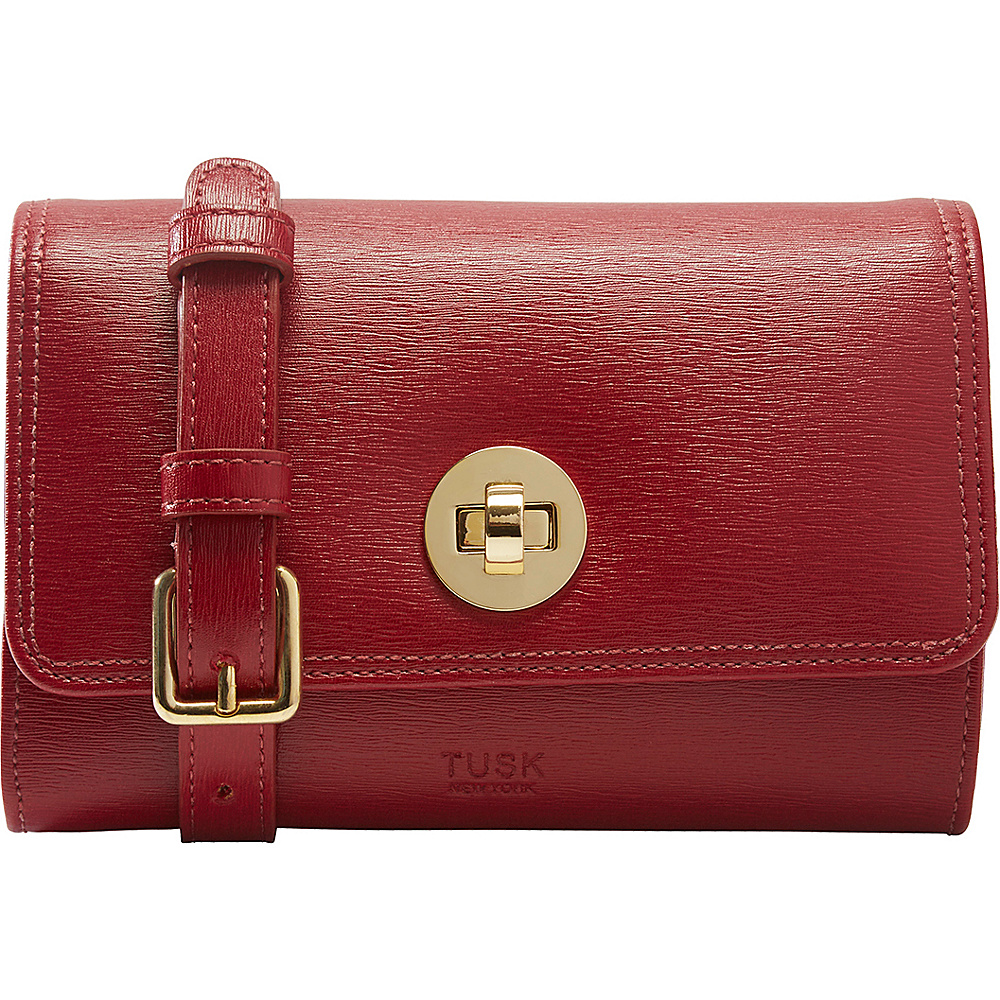 TUSK LTD Madison Mini Cross Body Bag Red TUSK LTD Leather Handbags