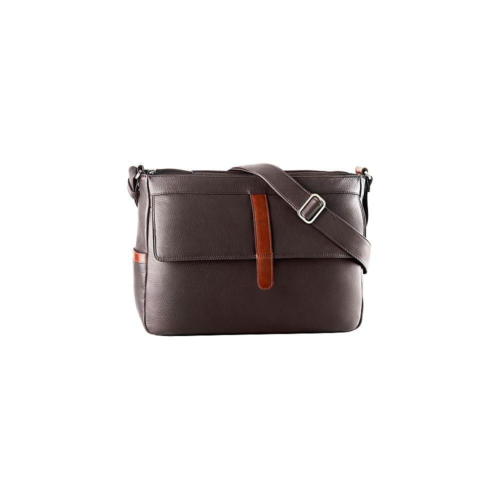 Derek Alexander East West Inset Top Zip Brown/Brandy - Derek Alexander Leather Handbags - Handbags, Leather Handbags