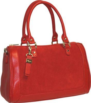Buxton Keira Satchel Red - Buxton Leather Handbags