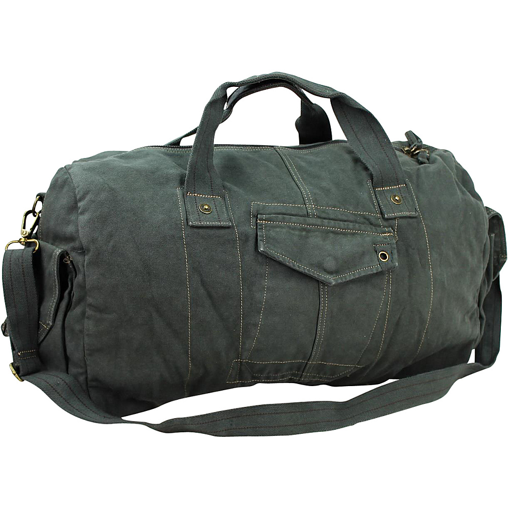 Vagabond Traveler 20 Large Canvas Travel Duffel Bag Blue Grey Vagabond Traveler Rolling Duffels