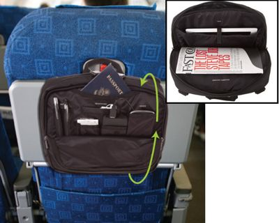 Wrap around the seat back tray table