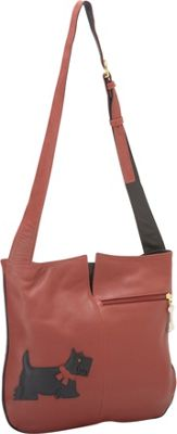 J P Ourse Park Avenue Shoulder Bag Scottie - J. P. Ourse & Cie. Leather Handbags
