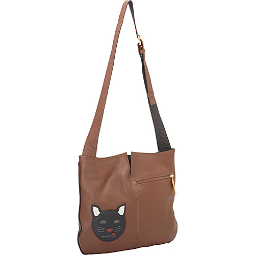J.P. Ourse & Cie. Park Avenue Shoulder Bag Cat - J.P. Ourse & Cie. Leather Handbags