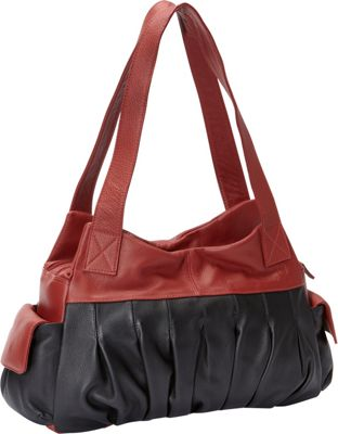 J. P. Ourse & Cie. Asbury Berry Red/Black - J. P. Ourse & Cie. Leather Handbags