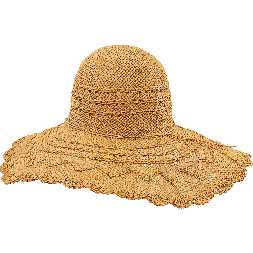 San Diego Hat Weaved Large Brim Floppy Tobacco San Diego Hat Hats Gloves Scarves