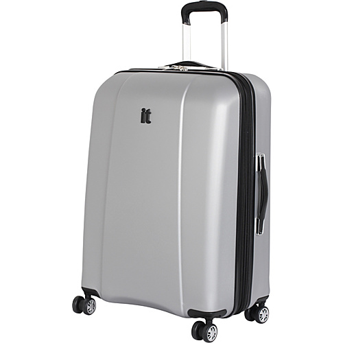 IT Luggage Copenhagen 4 Wheeled 22 Carry On Silver - IT Luggage Small Rolling Luggage