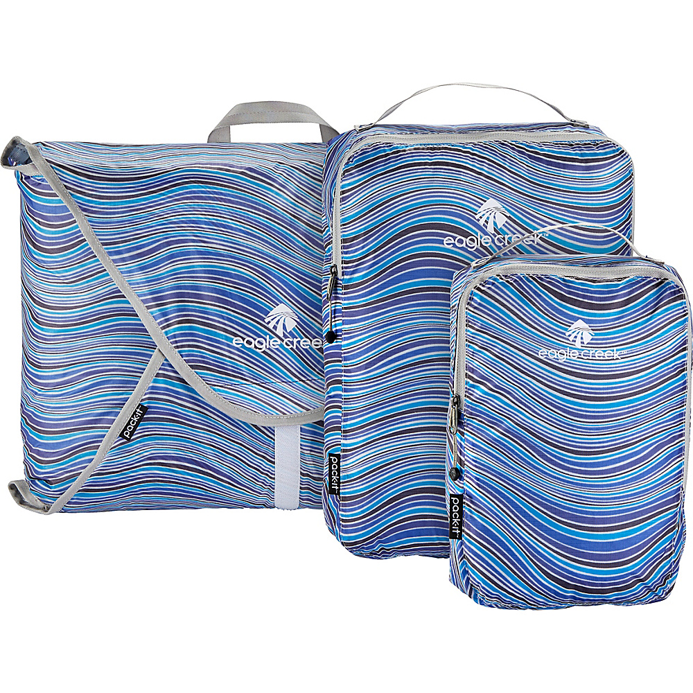 Eagle Creek Pack-It Specter 3-Piece Starter Set Sandstone Blue2 - Eagle Creek Travel Organizers - Travel Accessories, Travel Organizers
