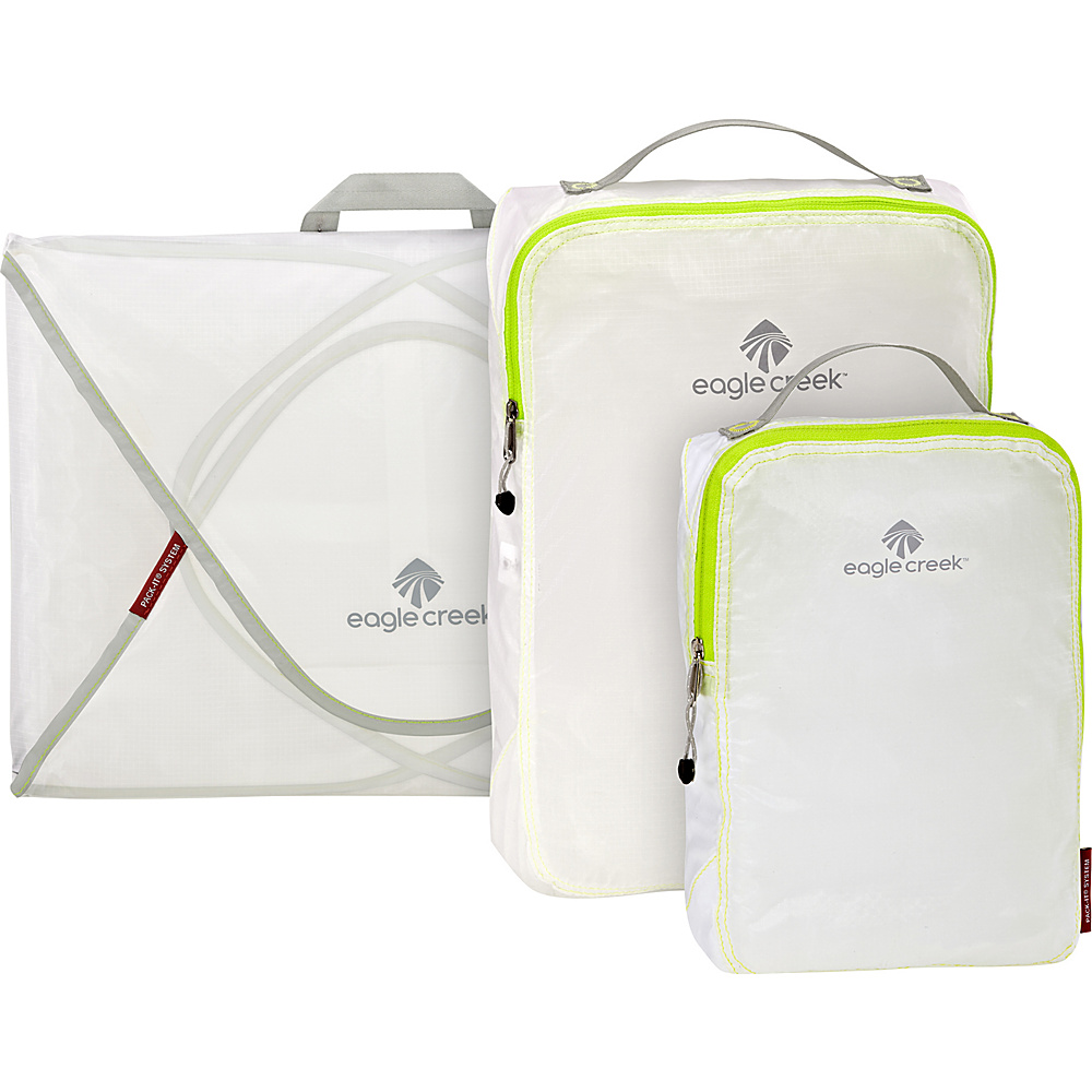 Eagle Creek Pack-It Specter 3-Piece Starter Set White/Strobe - Eagle Creek Travel Organizers - Travel Accessories, Travel Organizers